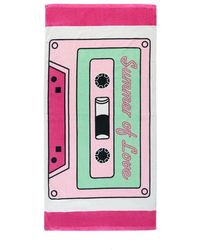 Forever 21 Cassette Graphic Beach Towel