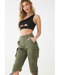 Forever 21 - Ruched Cargo Bermuda Shorts - Lyst