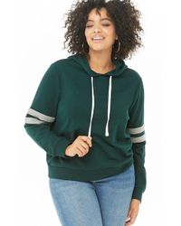 Forever 21 - Women's Plus Size Varsity Striped Hoodie - Lyst