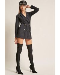 Forever 21 - Stripe Double-breasted Blazer - Lyst