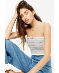 Forever 21 - Smocked Tube Top - Lyst