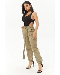 Forever 21 - Belted Cargo Joggers - Lyst