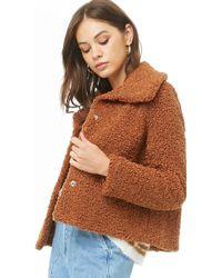 e8316e677f8 Forever 21 - Women s Plus Size Boucle Knit Jacket - Lyst