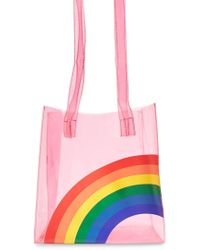 Lyst - Forever 21 Clear Metallic Colorblock Tote in Metallic 3515c41f94