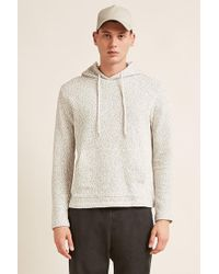 Forever 21 - Marled Popcorn Knit Hoodie - Lyst