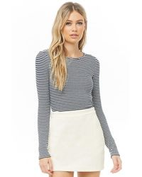 8dddb25330e2d Forever 21 - Striped Ribbed Knit Top - Lyst