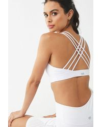 Forever 21 Low Impact - Strappy Sports Bra , White