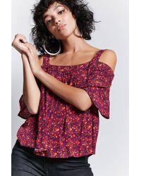 Forever 21 | Floral Open-shoulder Top | Lyst