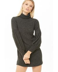 e99c809a1 Forever 21 - Selfie Leslie Turtleneck Sweater Dress - Lyst