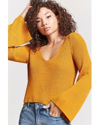 FOREVER21 - Open-knit Bell Sleeve Sweater - Lyst