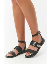 Forever 21 - Faux Leather Rhinestone Sandals - Lyst