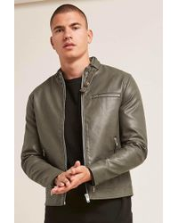 Forever 21 - Faux Leather Jacket - Lyst