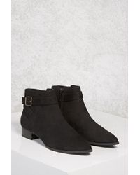 Forever 21 - Faux Suede Ankle Boots - Lyst