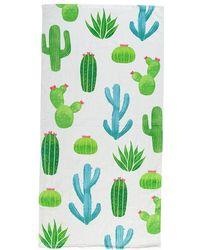 Forever 21 Cactus Print Beach Towel , White/multi