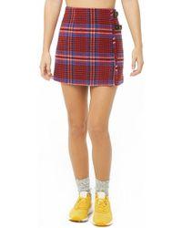 7435e1ee4 Forever 21 - Women's Glen Plaid Buckle Mini Skirt - Lyst