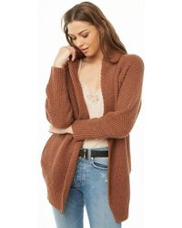 Forever 21 - Seed Knit Open-front Cardigan - Lyst