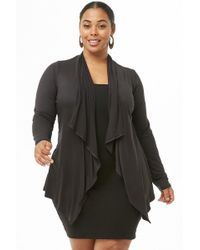 Forever 21 - Women's Plus Size Draped-front Cardigan Jumper - Lyst