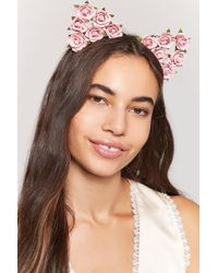 Forever 21 - Floral Cat-ears Headband - Lyst
