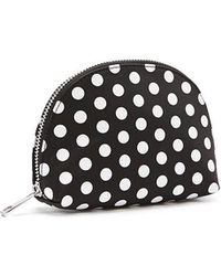 Lyst - Forever 21 Metallic Polka Dot Cosmetic Bag in Green 6d19cd70bb98b