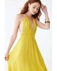 Forever 21 - Halter Maxi Dress , Citron - Lyst