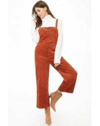 Forever 21 - Corduroy Cropped Jumpsuit - Lyst