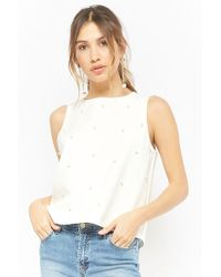 Forever 21 - Faux Pearl-embellished Top - Lyst