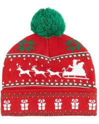 Forever 21 - Christmas Graphic Pom Pom Beanie Hat - Lyst