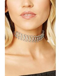 Forever 21 - Etched Geo Choker - Lyst