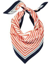 Forever 21 - Satin Striped Triangle Scarf - Lyst