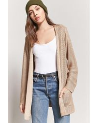Forever 21 - Purl-knit Open-front Cardigan - Lyst
