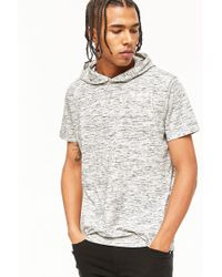 Forever 21 - Heathered Knit Hooded Tee - Lyst
