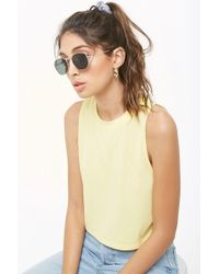 307afcc188476b Forever 21 - Women's Crew Neck Muscle Tee Shirt - Lyst