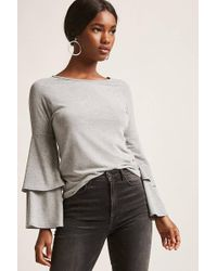 Forever 21 - Tiered Bell-sleeve Top - Lyst