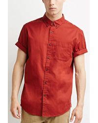 Forever 21 - Button-collar Shirt - Lyst