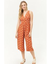 Forever 21 - Smocked Geo Jumpsuit - Lyst