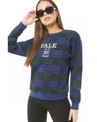 Forever 21 - Plaid Yale Graphic Sweatshirt - Lyst