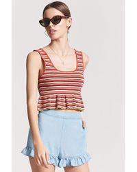 Forever 21 - Women's Chambray Ruffle Shorts - Lyst