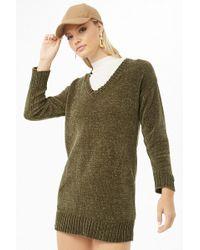 2a4b72a2e9 Forever 21 - Women s Mini Chenille Sweater Dress - Lyst