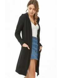 Forever 21 - Hooded Longline Cardigan - Lyst