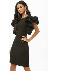 Forever 21 - Structured Ruffle-sleeve Dress - Lyst