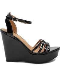 Forever 21 - Qupid Strappy Wedge Sandals - Lyst