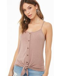 Forever 21 - Button-front Cami Top - Lyst