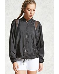 Forever 21 - Women's Active Netted Windbreaker Jacket - Lyst