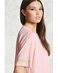 Forever 21 | Work Out Graphic Sleeve Top | Lyst