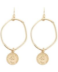 Forever 21 - Coin Charm Drop Oval Earrings - Lyst