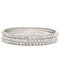 Forever 21 | Rhinestone Bangle Set | Lyst