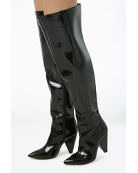 Forever 21 - Faux Patent Leather Thigh-high Boots - Lyst