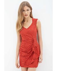 6c90c3e7677b Forever 21 Contemporary Crocheted Halter Maxi Dress in Orange - Lyst