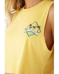 49145a04 Forever 21 - St. Tropez Graphic Muscle Tee - Lyst