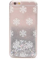 Forever 21 - Snowflake Waterfall Case For Iphone 6/6s/7 - Lyst